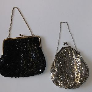 Mini Sequined Evening Bags Set of 2